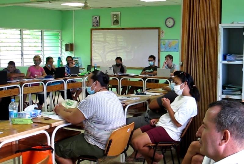 Rentrée studieuse pour les élèves et l'équipe technique et pédagogique du lycée agricole de Nuku Hiva.