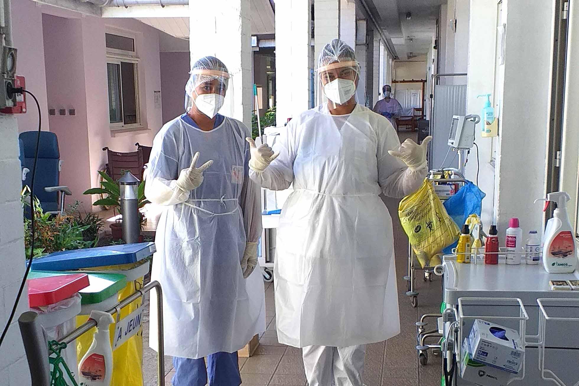 Des stagiaires du CFPA en renfort à l'hôpital de Taravao