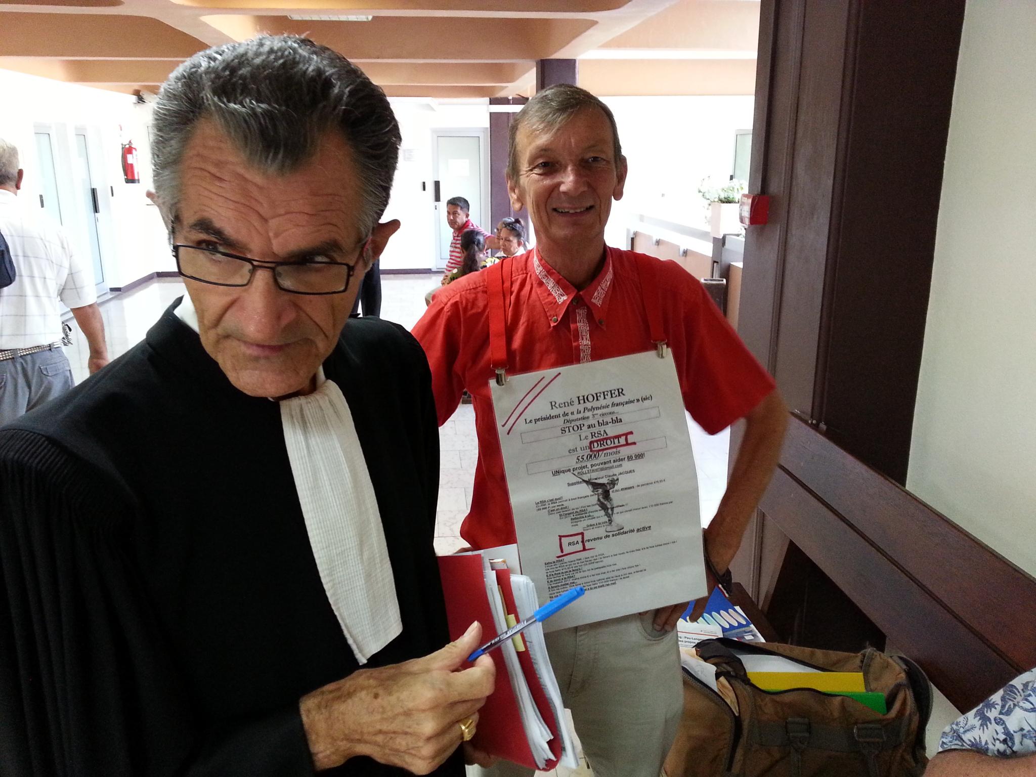 René Hoffer, lors de son jugement à Papeete en décembre 2015 pour escroquerie au RSA