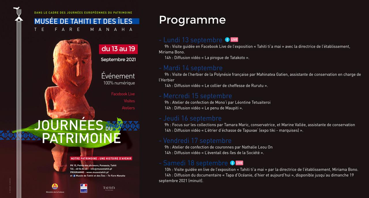 Journées du patrimoine : Le musée vous donne rendez-vous en ligne
