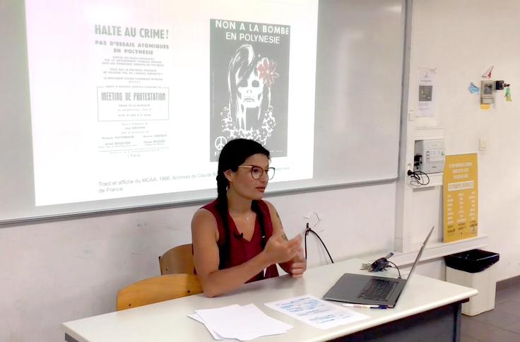 Clémence Maillochon prépare une thèse sur le militantisme antinucléaire. Elle recueille actuellement des témoignages auprès d'actuels et d'anciens opposants.