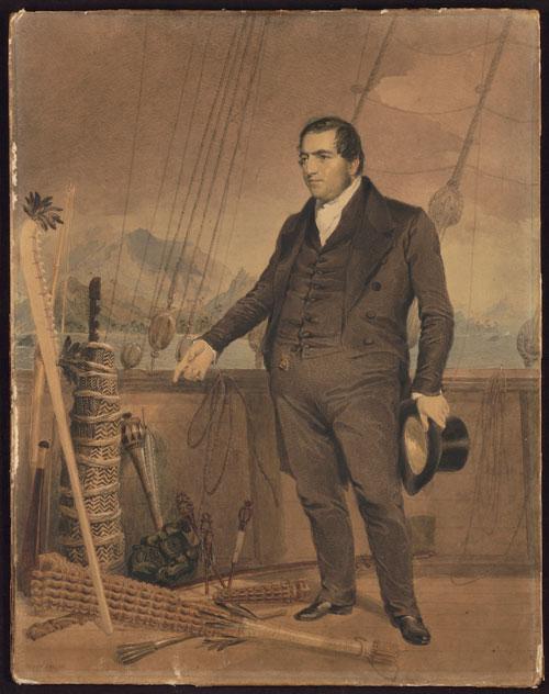 John Williams a été le premier à décrire A'a lorsqu'il était en poste à Raiatea. Il mourut en 1839, tué et dévoré à Erromango par ceux qu'il était venu convertir.