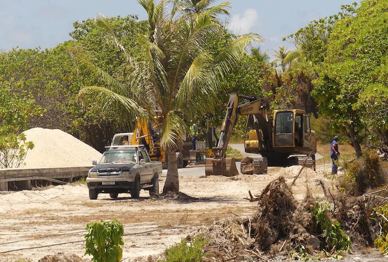 Les travaux de rénovation de la route dureront 5 mois. D'un coût total de 60 millions Fcfp, le chantier est financé à 80% par l'Etat et 20% par le Pays.