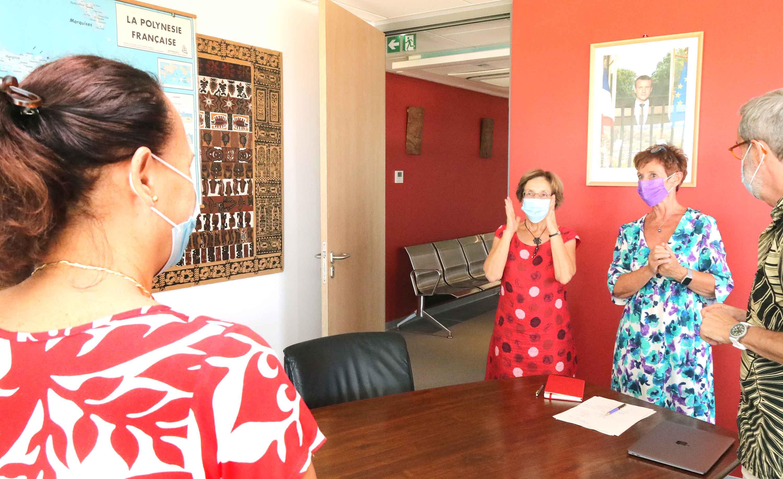 Isabelle Pillet et Catherine Batsch ont été reçues vendredi au ministère de l'éducation par Christelle Lehartel et le vice-recteur Philippe Lacombe.