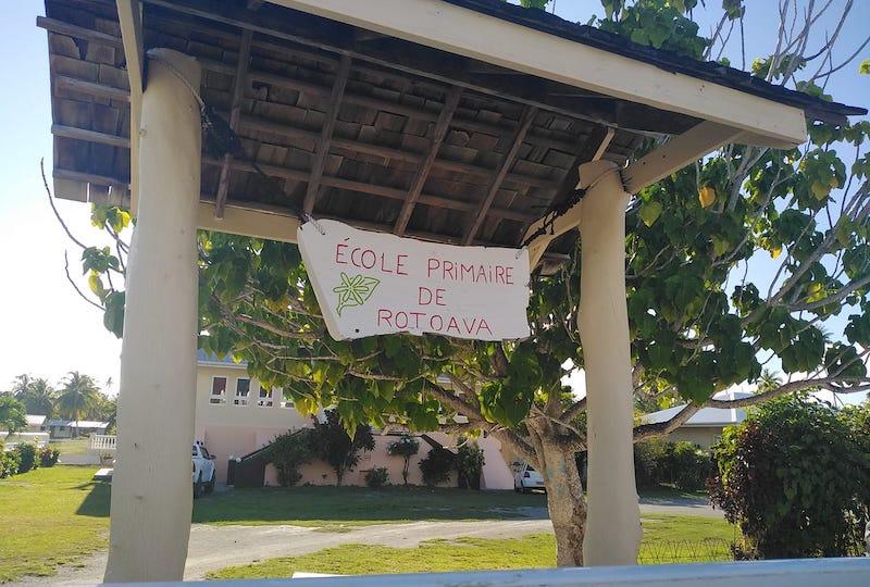 L'école de Rotoava est fermée à partir d'aujourd'hui jusqu'au 8 novembre, la décision a été prise par le tāvana et son conseil municipal. (© FB Ecole Rotoava de Fakarava)