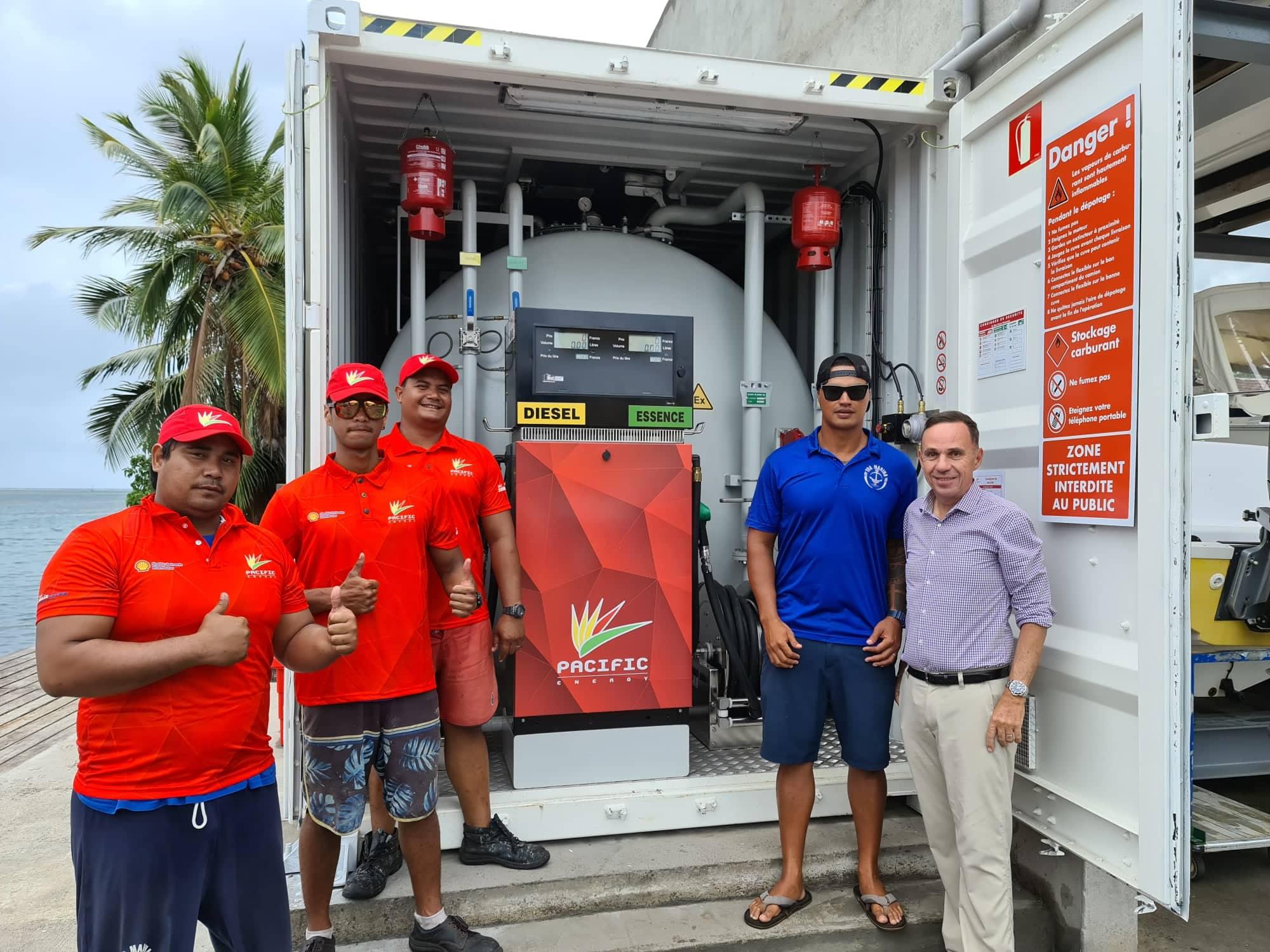 La première station marine de Papeete prête à faire le plein