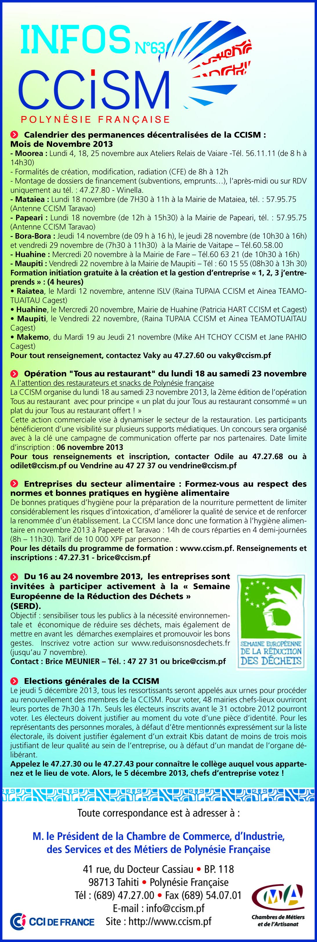 Infos CCISM N°63