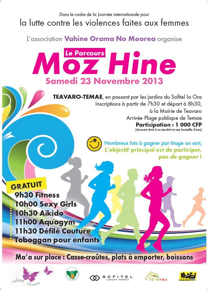 Moz Hine: une course contre la violence faite aux femmes à Moorea