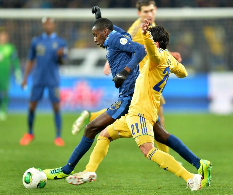 Foot/Mondial-2014/Barrage aller: L' Ukraine bat la France 2 à 0