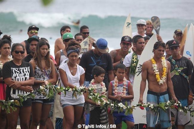 L'hommage à Gen IMAI, le surfeur décédé à Papara, a été grandiose