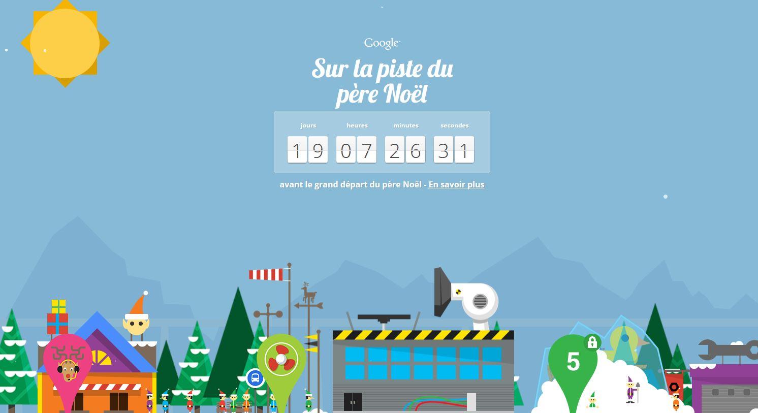 Calendriers de l'avent: Google et Microsoft sur les traces du Père Noël