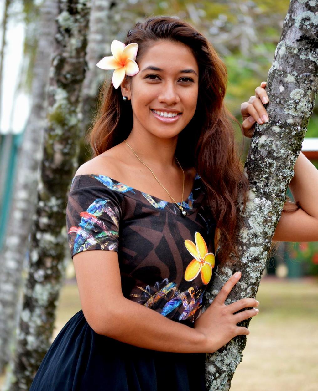 Teuira Napa, 20 ans, couronnée Miss Pacifique Sud 2013