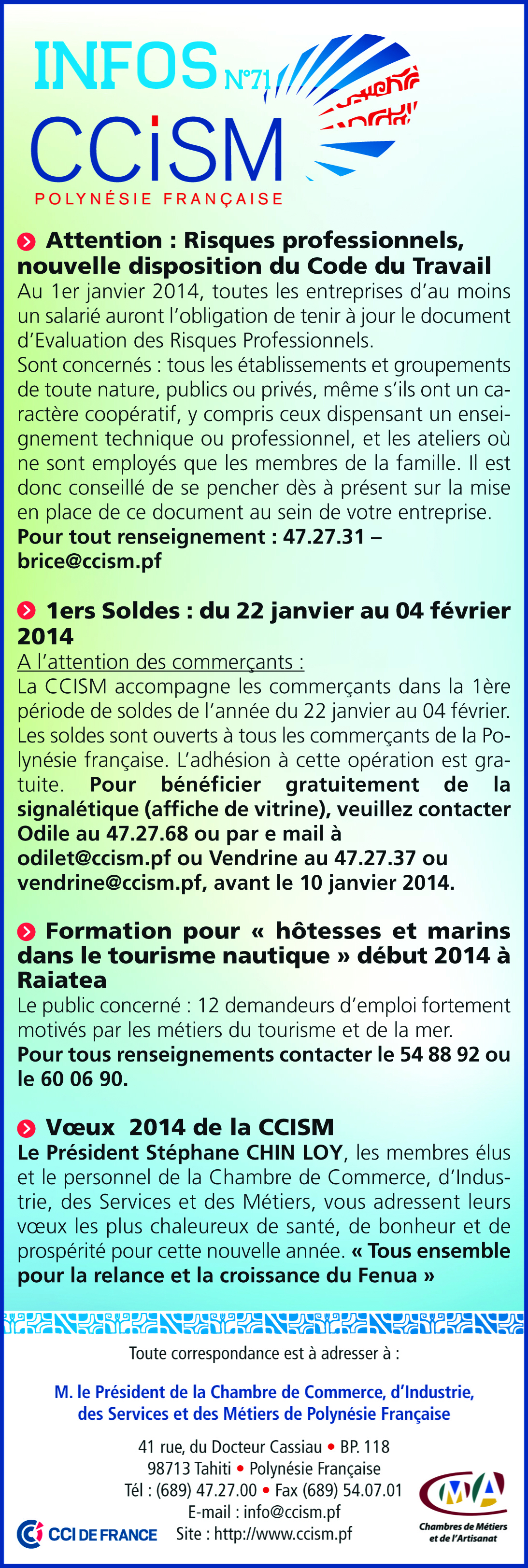Infos CCISM N°71
