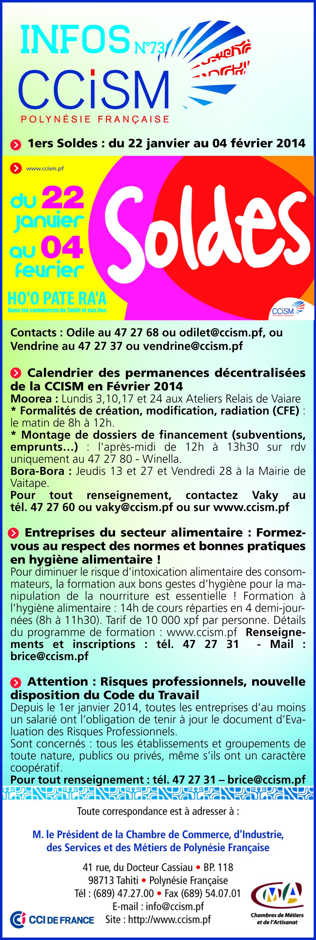 Infos CCISM N°73