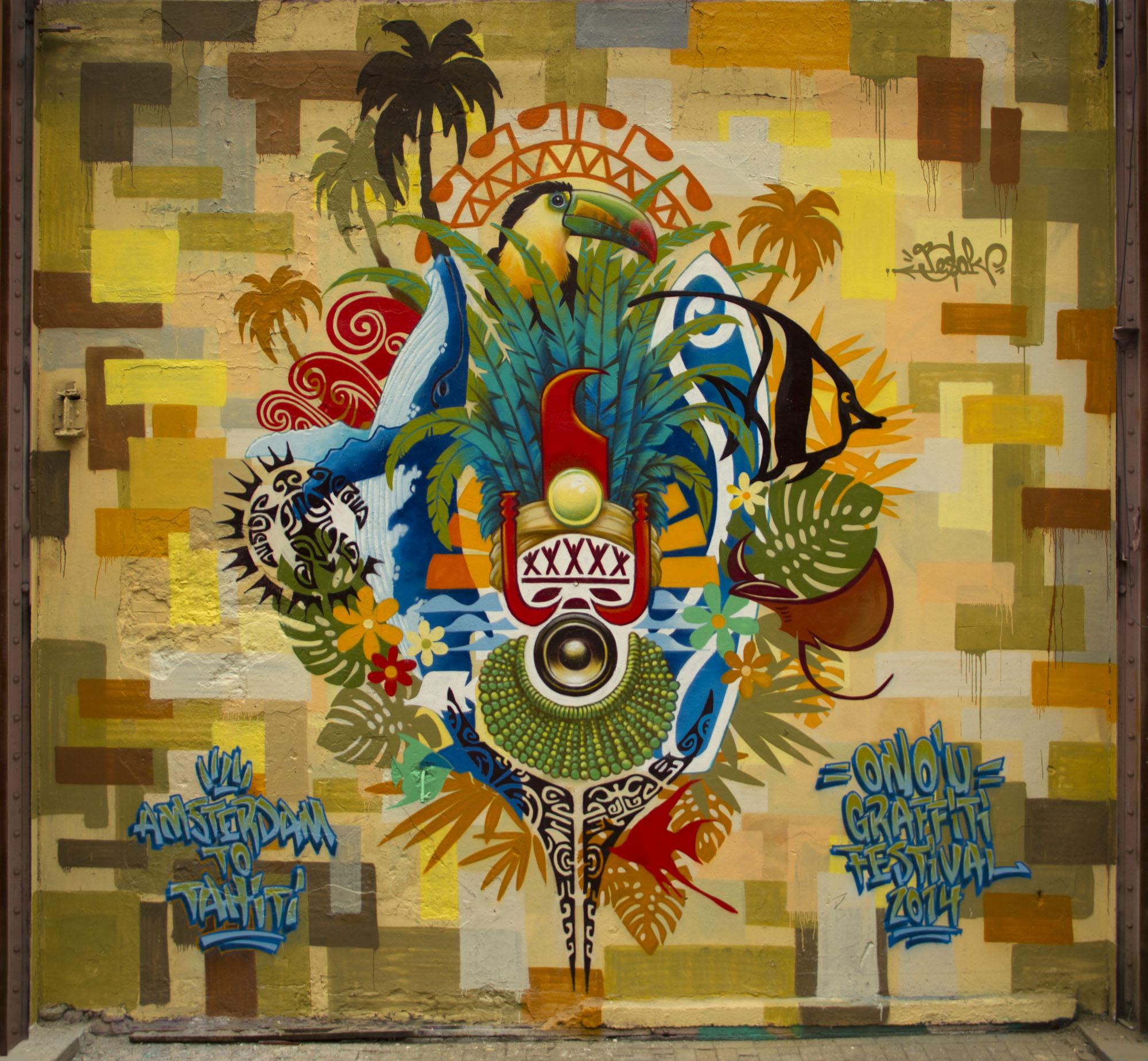 Le fenua sur les murs d'Amsterdam