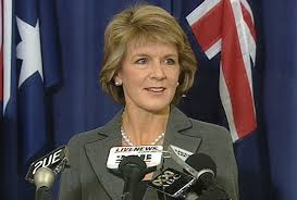 Julie Bishop en Papouasie-Nouvelle-Guinée