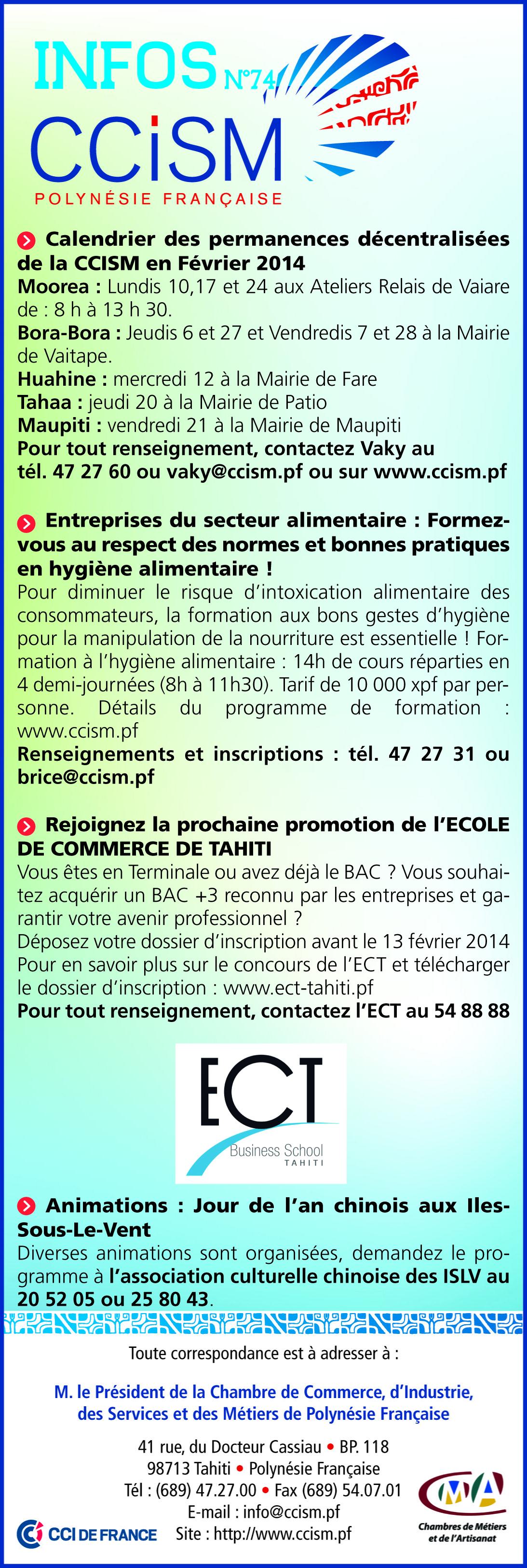 Infos CCISM N°74