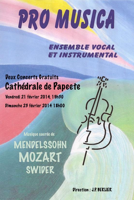 Concerts annuels de l'ensemble vocal et instrumental PRO MUSICA