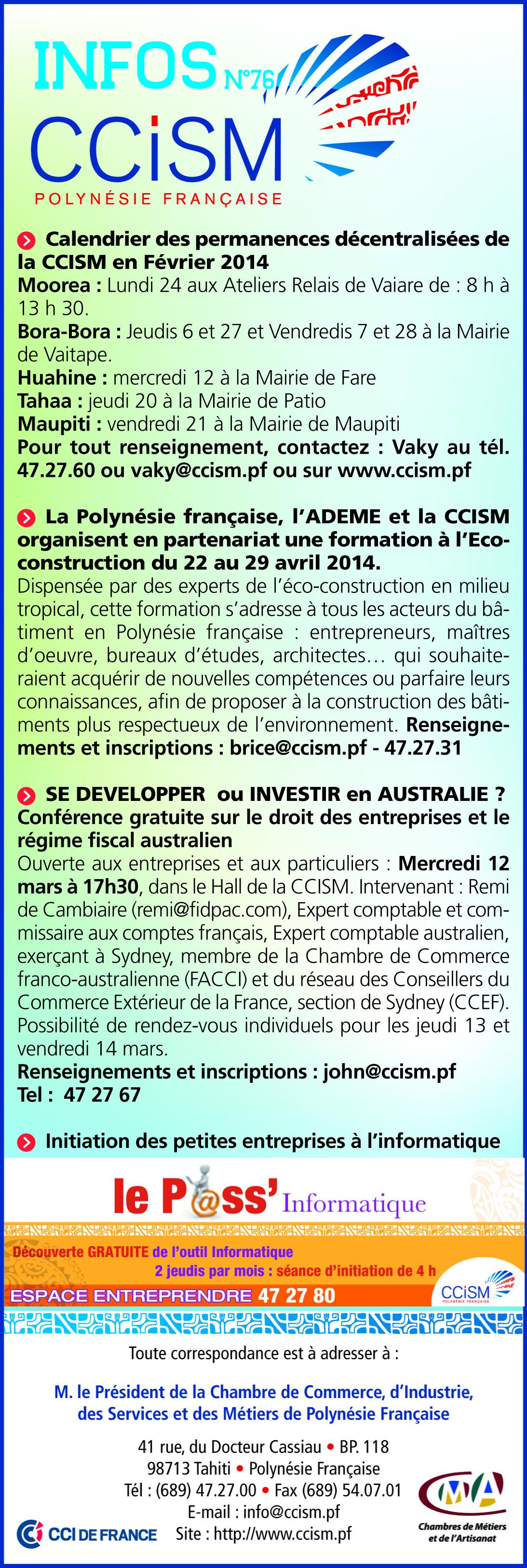 Infos CCISM N°76