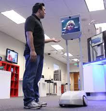 """Le robot de téléprésence """"Beam"""", avatar au salon Innorobo de Lyon"""