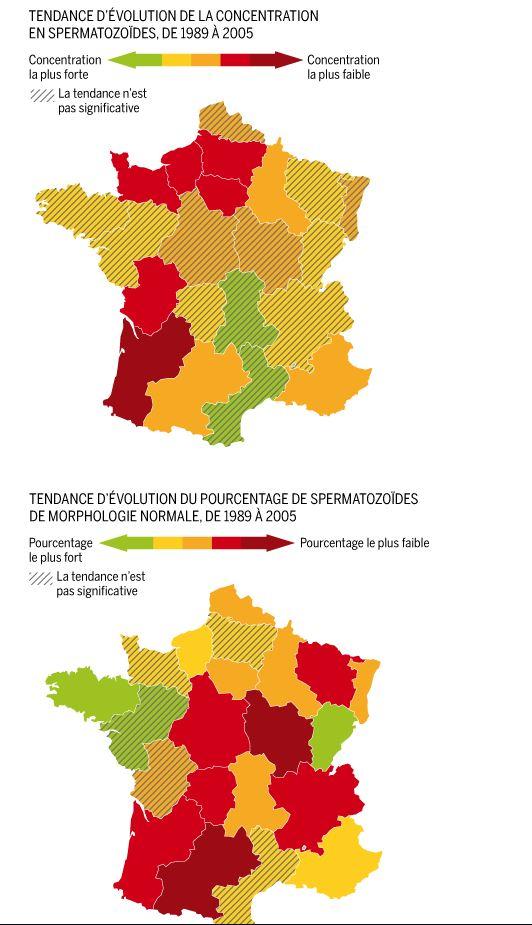La baisse de la qualité du sperme inégale en France