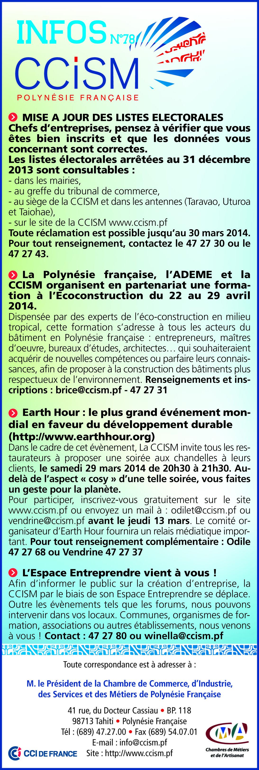 Infos CCISM N°78