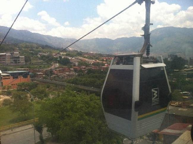 Le métrocâble de Medellin en Colombie comporte désormais quatre lignes.