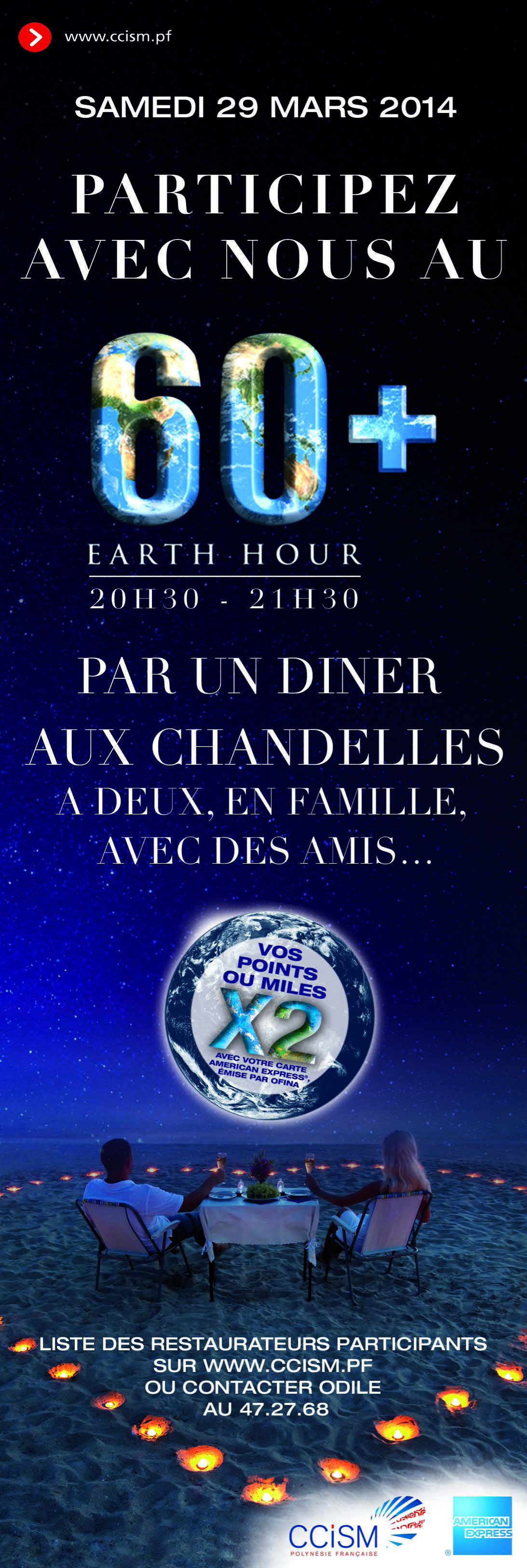 Infos CCISM: Earth Hour 2014