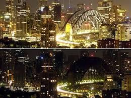 """Sydney dans le noir pour le début de l'opération """"Une heure pour la planète"""""""