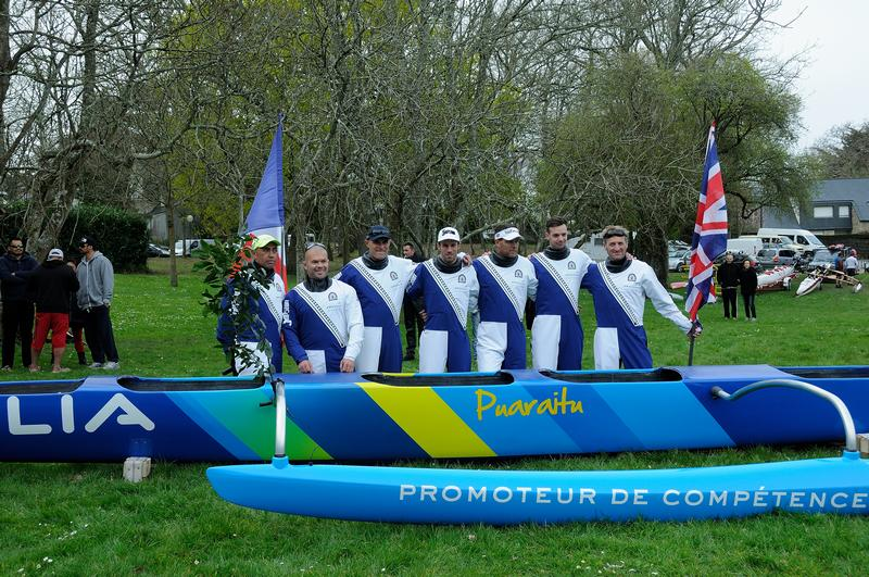La pirogue Puaraitu de la Team Marara Va'a va tenter la traversée de la Manche (Crédit photo : Team Marara Va'a)