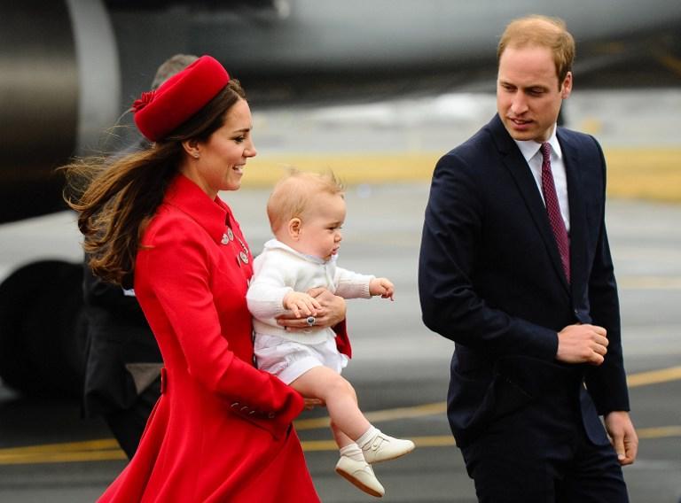 Le prince George en Nouvelle-Zélande: la pluie le prive de l'accueil maori