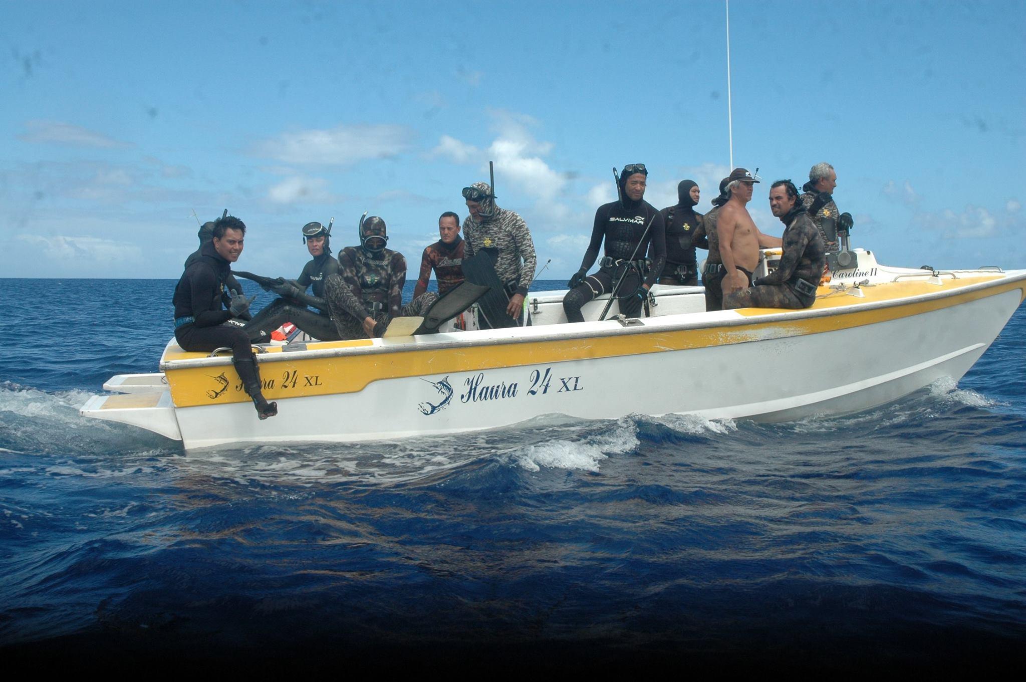 Equipe Tahitienne en préparation