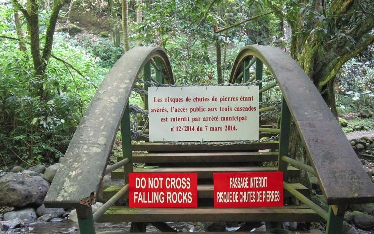 Le site des Trois cascades est fermé au public depuis quelques semaines.