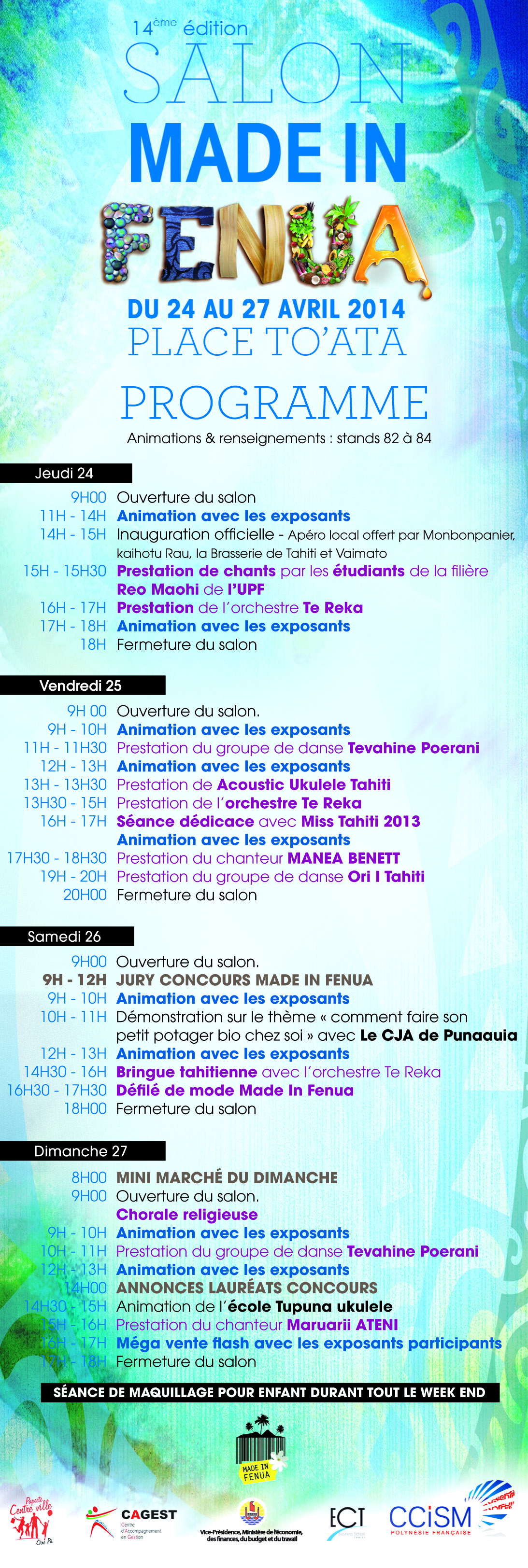 Infos CCISM: 14ème Salon Made in fenua