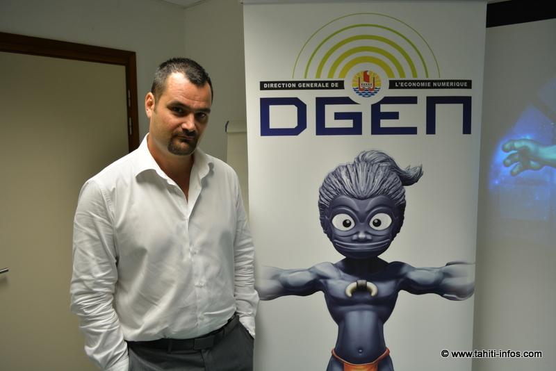 Karl Tefaatau, chef de service de la direction générale de l'économie numérique (DGEN)