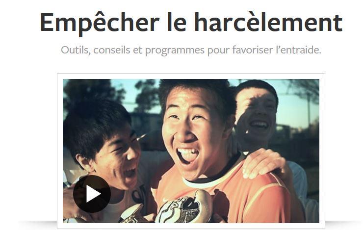 Facebook lance un portail anti-harcèlement en France