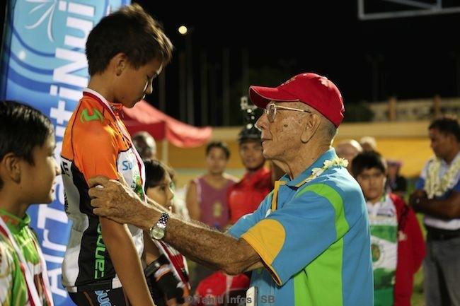 Michel Ferrand, légende du sport tahitien, nous a fait l'honneur de sa présence