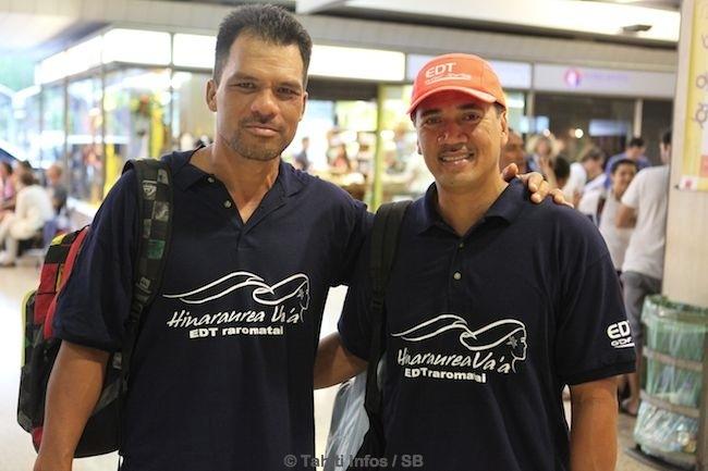 Jean Pierre Barff, à droite, fier de représenter la Polynésie