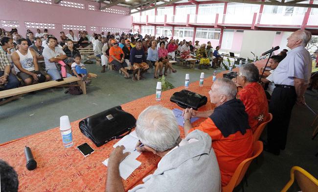 Le président polynésien en personne et quatre de ses ministres se sont déplacés jusqu'à Hao durant le week-end, signe de l'importance stratégique de ce projet de ferme aquacole.