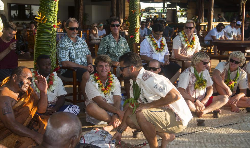 Michel le Tahitien et le chef Fidjien