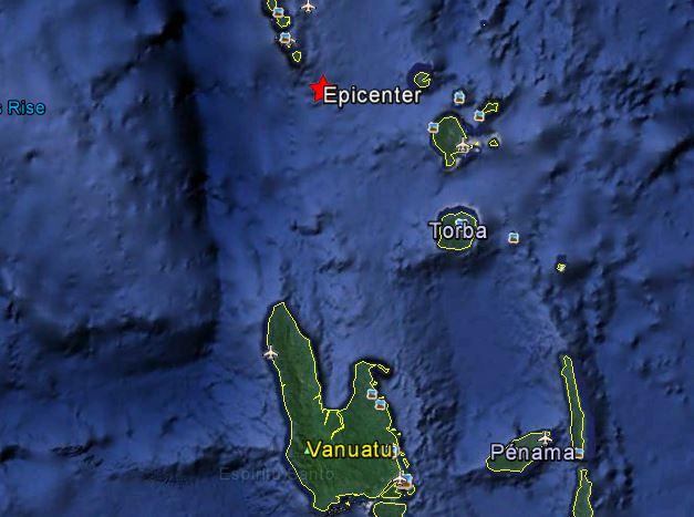 Fort séisme au Nord de Vanuatu