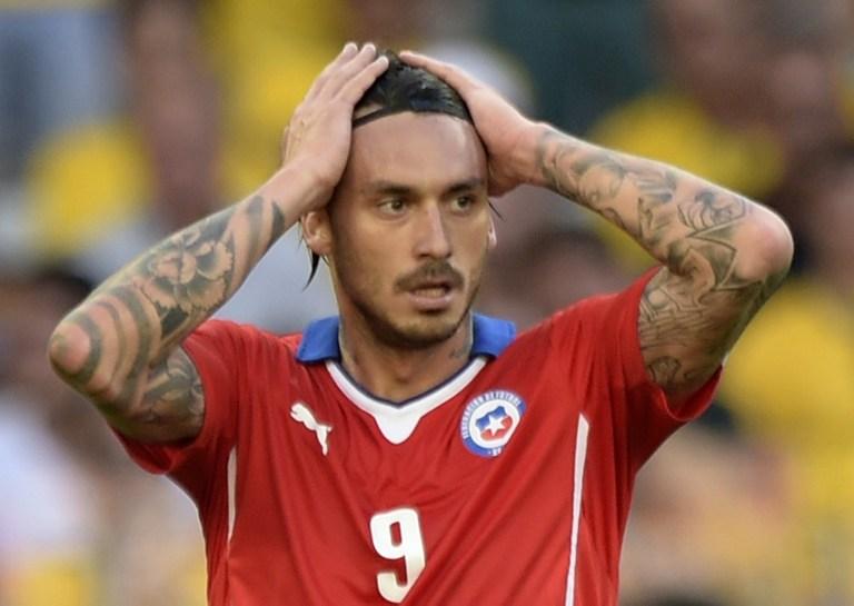 Mondial-2014: le Chilien Pinilla se fait tatouer son but raté contre le Brésil