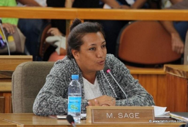Maina Sage ce lundi à l'assemblée de Polynésie pour le colloque sur les 30 ans de l'autonomie (Photo APF).