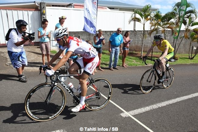 Cyclisme : Benjamin Harvey en pleine forme sur le Tourde Polynésie 2014