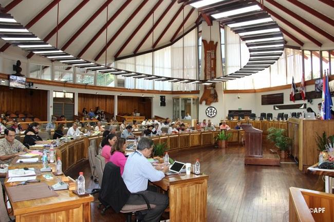 Les élus de l'assemblée de Polynésie réunis ce lundi pour la 7e séance de la session administrative.
