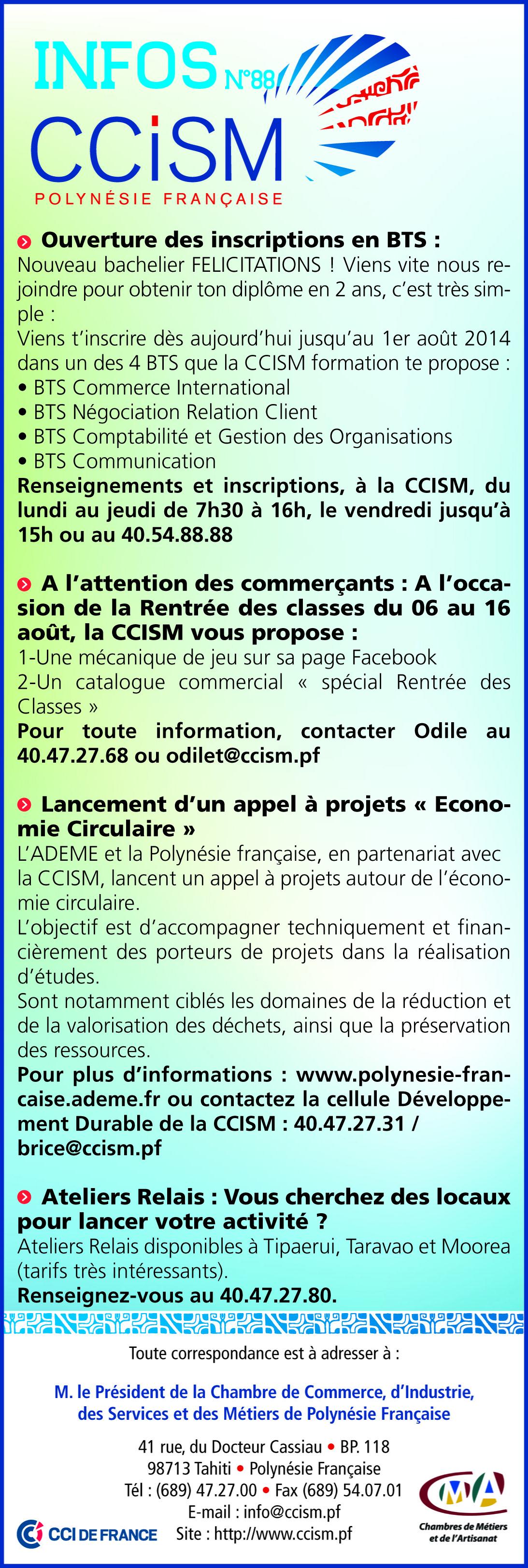 Infos CCISM N°88