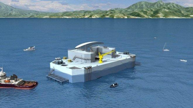 © DCNS NEMO, la Martinique sera la première au monde à avoir une centrale off-shore d'énergie thermique des mers