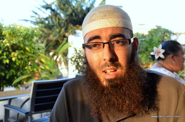 L'Imam Hicham El-Barkani, le 14 octobre 2013 à Papeete, la veille de l'ouverture au public du Centre islamique de Tahiti pour l'Aïd al-adhaa (archive Tahiti infos)