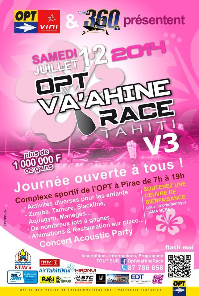 Va'a - Opt Va'ahine Race : Plus d'1 Mcp de 'prize money' pour la première édition de cette course féminine !