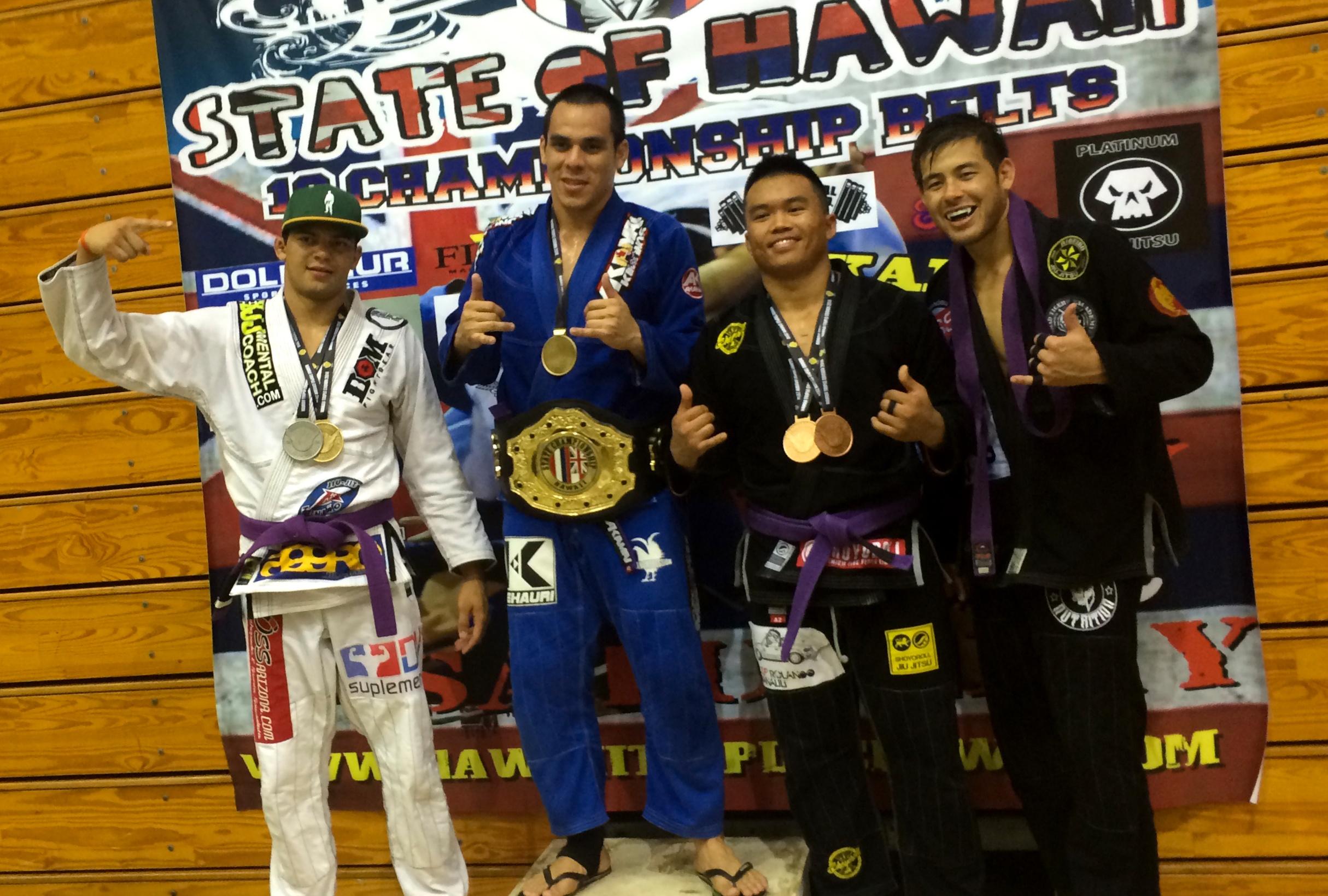 Hoanui Vanaa remporte la plus grosse compet' de jiu jitsu à Hawaii